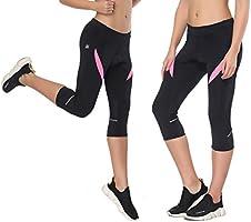 Santic Pantalones Cortos Ciclismo Mujer con Badana 3/4 Pantalon ...