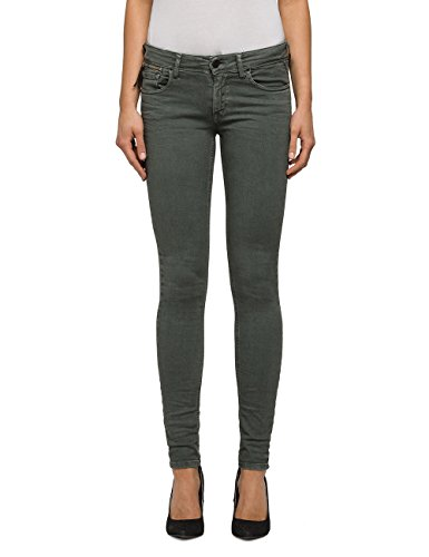 Replay Women's Luz Women's Sage Green Skinny-Fit Jeans in Size 24W 30L Green (Women Jeans Replay)