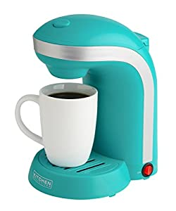 Amazon.com: Kitchen Selectives Colors Single Serve Coffee Maker - Teal: Single Serve Brewing ...