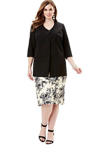Roamans Womens Plus Size Dot Print Jacket Dress