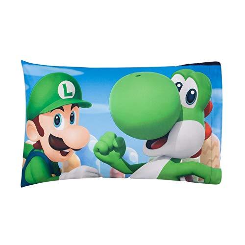 - Fun Character Pillow Mario Kingdom Kids Boys Pillowcase Microfiber Cotton Standard Size