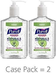 PURELL Advanced Hand Sanitizer Naturals with Plant Based Alcohol, Citrus scent, 12 fl oz Pump Bottle (Pack of 2)- 9629-06-EC