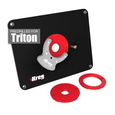 Kreg precision router table insert plate w level loc rings kreg precision router table insert plate w level loc rings predrilled for triton greentooth Choice Image