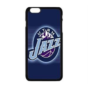 Utah Jazz NBA Black Phone Case for iPhone plus 6 Case