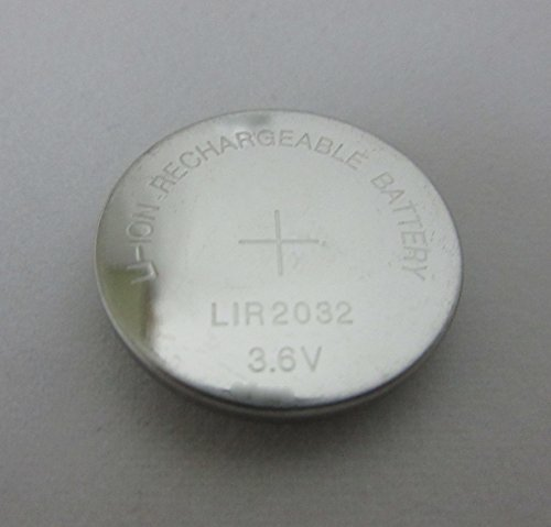 10 PCS Generic Rechargeable LIR2032 3.6V Li-ion Cell Battery Button Battery Coin Battery