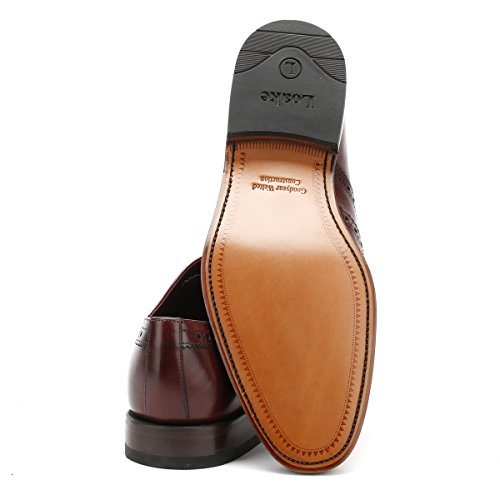 negro cordones hombre Zapatos de negro Taille Calf Loake para Burgundy Xqf7Anwf