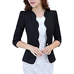 LATUD Women Clothes Women's One Button Slim Fit Casual Office Swing Blazer Suit Jacket Coat Black US 12 = Tag 3XL