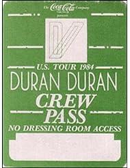Duran Duran 1984 Arena Tour Backstage Pass Crew, Green