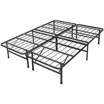 Amazon.com: Spa Sensations Steel Smart Base Bed Frame Black ...