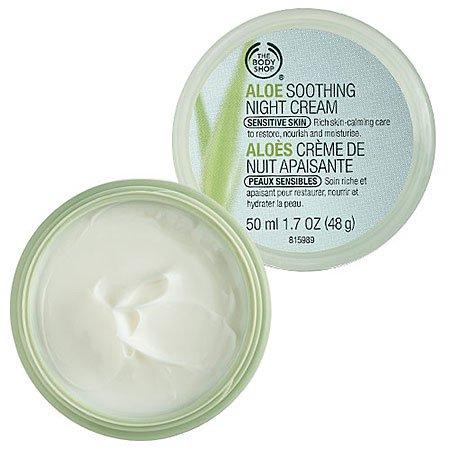 The Body Shop aloès apaisant Crème de Nuit, 1,7 once