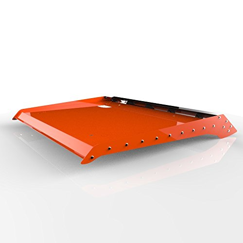 Orange Powdercoat Two 2 Seat Aluminum Roof fits: 2014-2017 Polaris RZR 900 1000 - Ferreus Industries - ATV-105-Orange-a (Seat Rugged Work Roll)