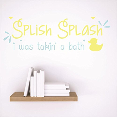 Design with Vinyl RAD 44 1 Decor Wall Decal Sticker : Splish Splash I Was Takin A Bath Bathroom Quote, 5 x 24