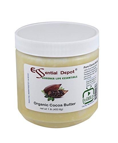Beurre de cacao biologique - non raffinés - 16 Oz.