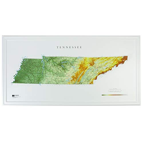 Hubbard Scientific Raised Relief Map 962 Tennessee State Map
