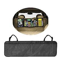Crazy Cart Car Trunk Back Seat Storage Organizer - Free Drawstring Bag - -For SUV, Van, Truck, Cargo Accessories Backseat (Kids Toy, Doc,.)