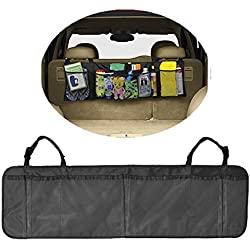 Crazy Cart Car Trunk Back Seat Storage Organizer - Free Drawstring Bag - -For SUV, Van, Truck, Cargo Accessories Backseat (Kids Toy, Doc,.)