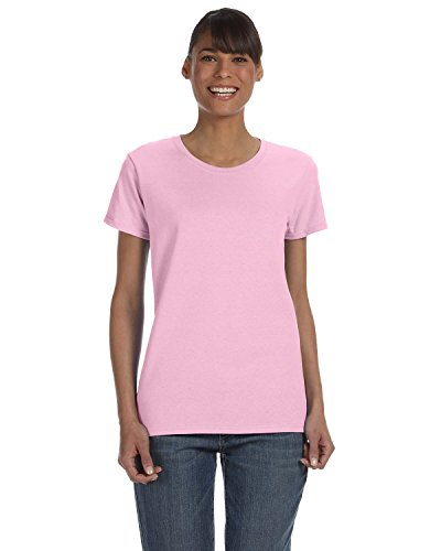 Gildan 5000L - Missy Fit Ladies T-Shirt Heavy Cotton - First Quality - Light Pink - Large