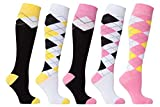 Socks n Socks Womens 5 pair Argyle Cotton Socks