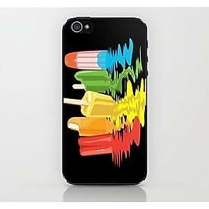 HC- caso duro del patrón de helado colorido para el iphone 4 / 4s