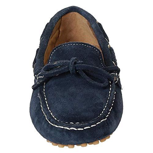 4126blue Shoes Mocasín Gamuza Mujer Azul Leonardo pEzax