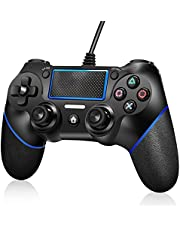 PATIOSNAP PS4 Controller, Wired Remote Controller for Playstation 4 Dual Vibration Shock Joystick Game pad for PS4/PS4 Slim/PS4 Pro and PC with 6ft Long USB Cable