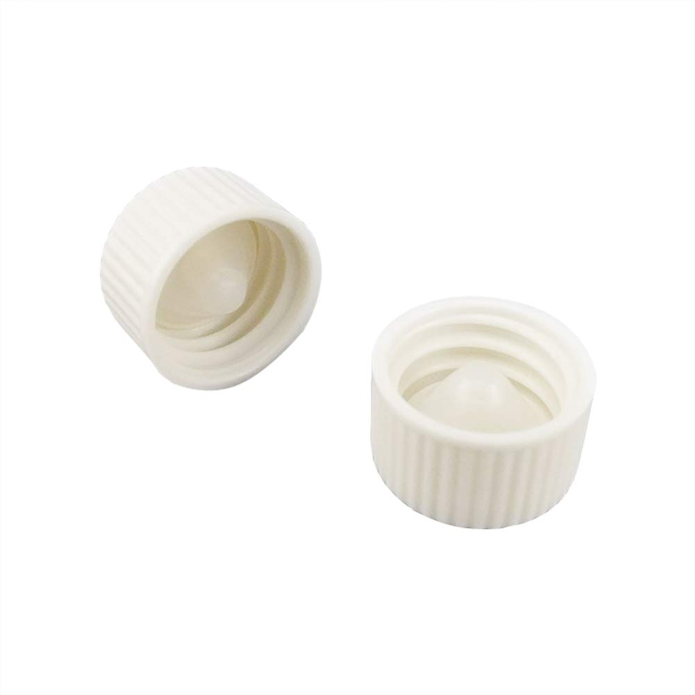 Adamas-Beta White Coded Screw Cap, Internal Molded Seal Ring,Ribbed Style Size D×H:21.2×13.5mm(Pack of 40)