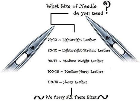 25 Schmetz Leather Sewing Machine Needles 130//705H LL 15x2NTW Size 80//12