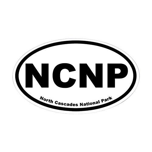 (CafePress North Cascades National Park Oval Sticker Oval Bumper Sticker, Euro Oval Car Decal)
