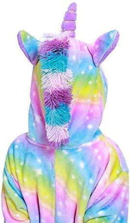 QFULFUN Unicorn Pajama Onesie for Girls Xmas Animal Cosplay Fancy Dress Costume 3-11 Years