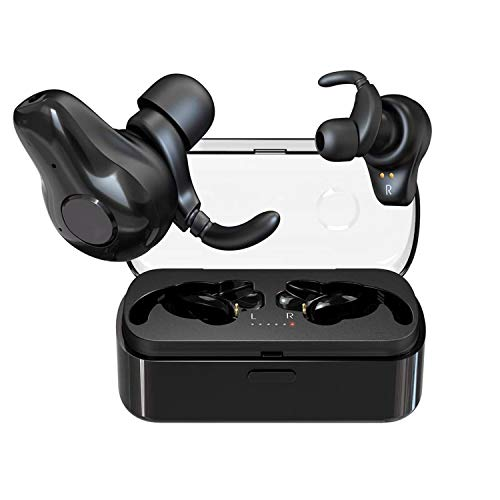 ITOLK X5 Bluetooth 5.0 True Wireless Earbuds TWS 2-in-1 Headphones with AAC Hi-Fi Pumping Bass Stereo Sound Auto Pairing IPX5 Waterproof Earphones in-Ear Headset Built-in Mic for Sport Running Work