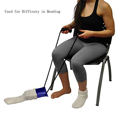 Scenstar Sock Aid with Foam Handles, Best Sutiable for People with Arthritis, Joint Pain and Limited Range of Motion(Blue)