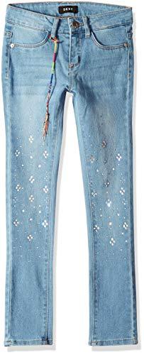 DKNY Girls' Big Full Length Stone Skinny Jean, Blue Jay, 8