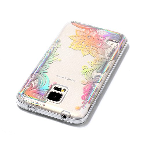 S5 Samsung de Samsung Housse Silicone Rayures 6 Lomogo Anti Coque avec LOYHU21462 Souple Protection Choc Transparente 9 Motif Anti Galaxy Coque Galaxy Gel S5 pour H01qwa