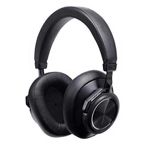 Bluedio T6S Bluetooth Headphones Over Ear with Mic, Active Noise Canceling Headset Voice Control Support Amazon Web Services (AWS), Wireless headphones for Cell Phone/PC, 32-Hrs Play Time, Black