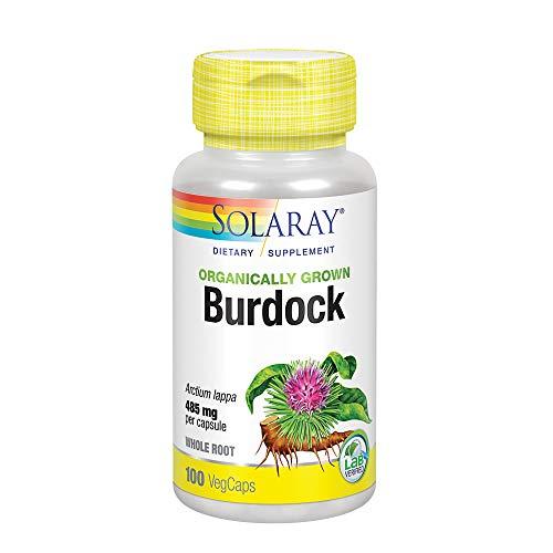 (Solaray Organic Burdock Root Supplement, 485 mg, 100 Count )