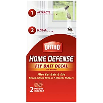 Amazoncom Ortho Home Defense Fly Killer Window Decal Pk - Office depot window decals instructions