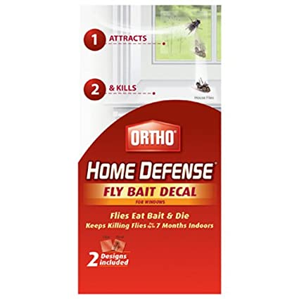 Ortho home defense fly killer window decal 2 pk