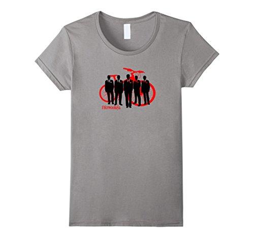 Women's #MormonMafia mormon mafia funny tshirt t shirt Small Slate (Female Mobster)