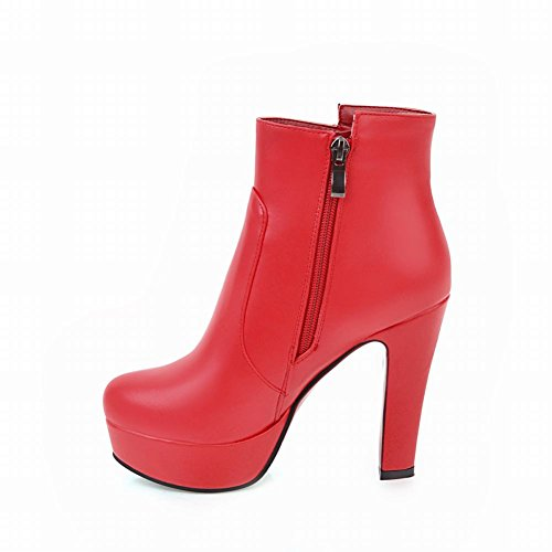 Latasa Dress Womens Heel Latasa Red Platform High Booties Womens 5YnxY1RF