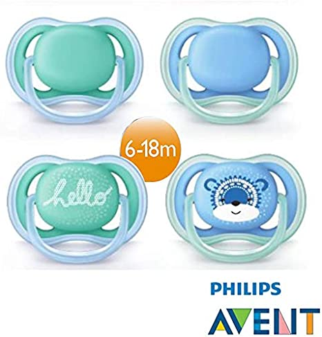 es Ultra soft pacifier, Ortod/óntico, P/úrpura, 6 mes Philips AVENT SCF227//20 s Chupete 2 pieza