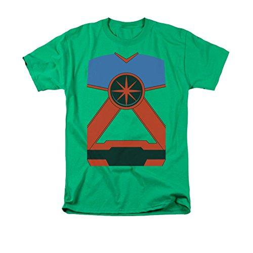 Martian Manhunter Costume T-Shirt Medium Kelly Green (Martian Manhunter Costume)