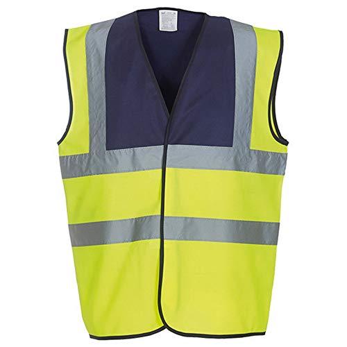 Yoko Unisex Premium Hi-Vis Waistcoat Vest/Jacket (Pack of 2) (L) (Hi Vis Yellow/Black)
