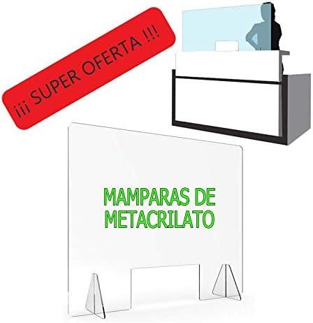 MAMPARA DE PROTECCIÓN METACRILATO TRANSPARENTE EXTRAFUERTE 4mm (80x80cm): Amazon.es: Bricolaje y herramientas