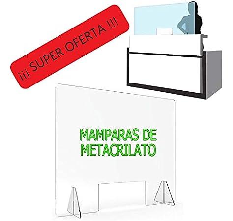 MAMPARA DE PROTECCIÓN METACRILATO TRANSPARENTE EXTRAFUERTE 5mm (80x100cm): Amazon.es: Bricolaje y herramientas