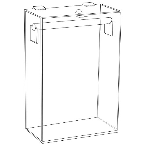 (Counter-top Clear Acrylic Jewelry Necklace Display Stand Case)
