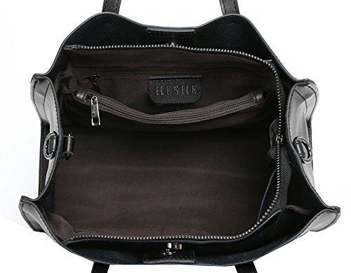 Leather Purse Tote Crossbody Top Black Satchel Women Shoulder Heshe Bags Handle Bag Handbags p806q5Wxwf
