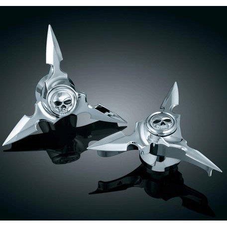 Kuryakyn 1235 Zombie Spin Blade Spinning Axle Caps for Harley-Davidson (C01002917) 1235--AZ3