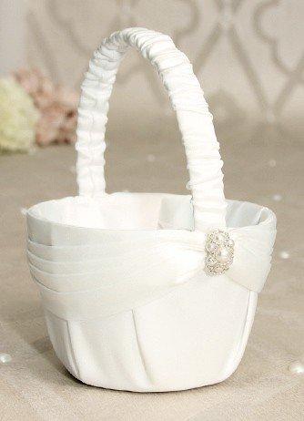 Beverly Clark Wedding Romance Collection Flower Girl Basket White ()
