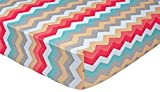 Trend Lab Waverly Pom Pom Play Crib Sheet, Chevron