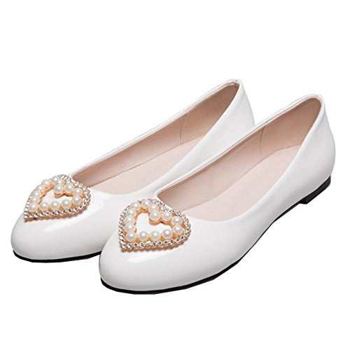 Flats 15 8 Flats Large for from White and with Comfortable Available SJJH Size Ladies 2 US colors dOqEzd1x